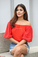 Rhea Chakraborty in Red Crop Top and Denim Shorts Spicy Pics ~  Exclusive 315.JPG