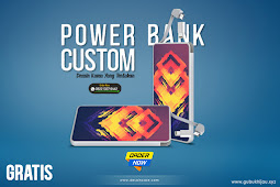 Download Mockup Power Bank Veger Gokil