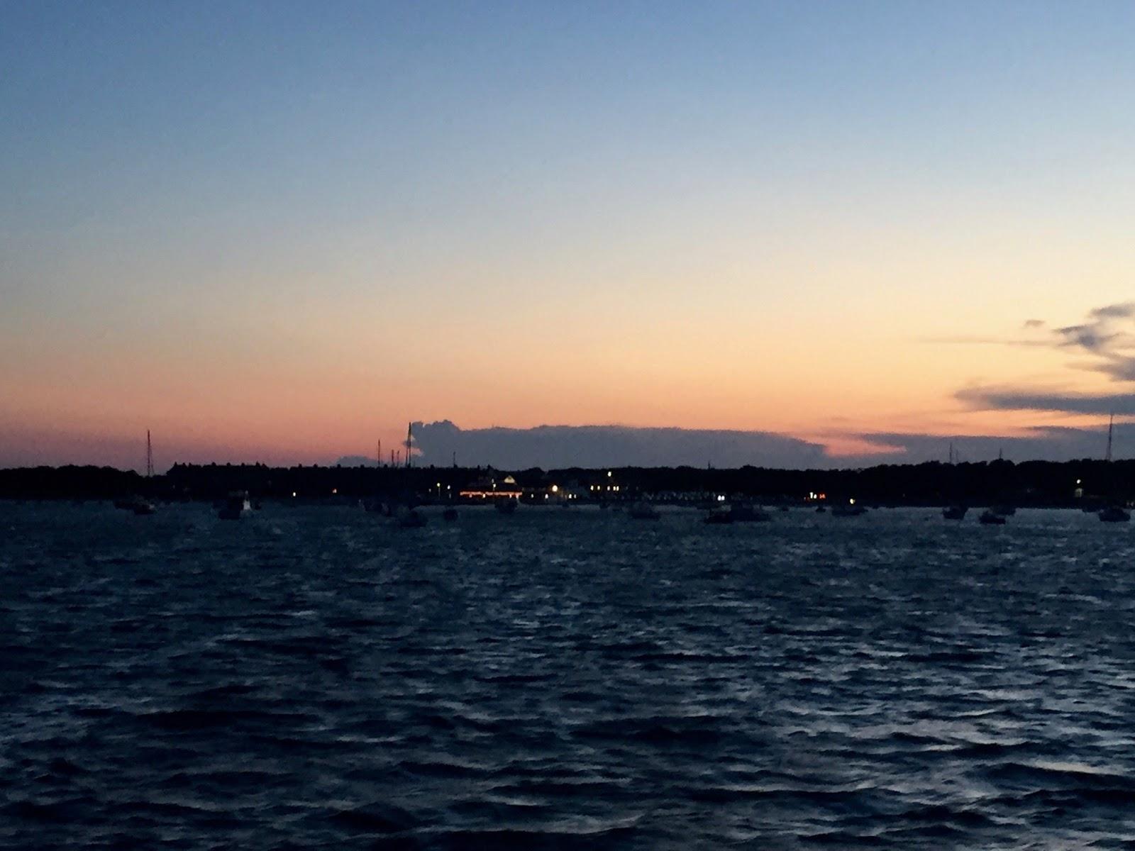 Sea at sunset, Cape Cod