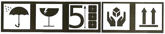 Simbol-simbol yang dipasang pada kemasan distribusi.