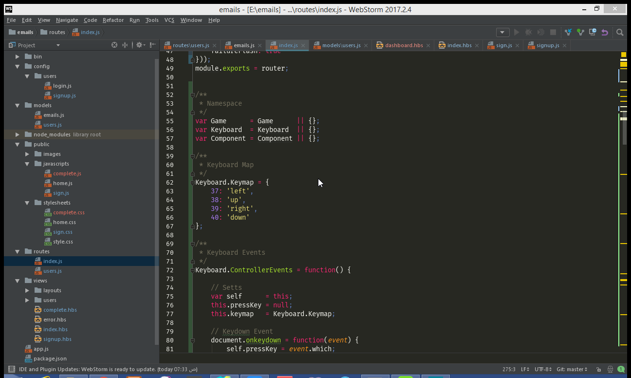 javascript snake code