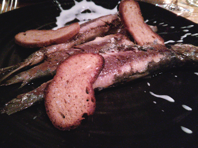 Grilled sardines with Scotch Bonnet yoghurt, The Finnieston, Glasgow