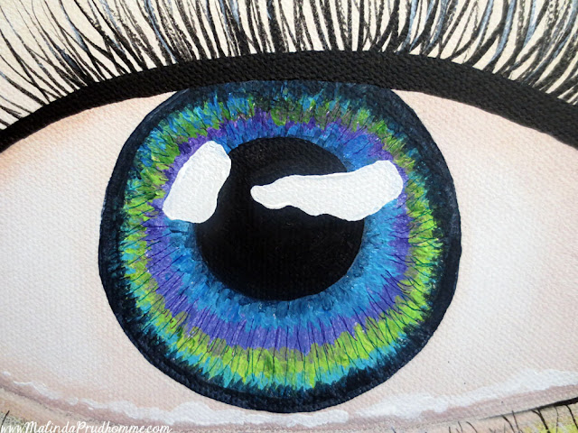art, artist, artwork, painting, paint, eye, eye art, eye painting, beauty art, multicoloured eye, eye art series, malinda prudhomme, toronto art, toronto artist, toronto portrait artist, malinda prudhomme, canadian artist
