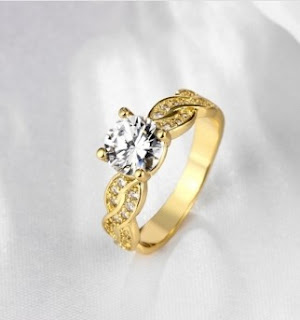 Wholesale High Quality Nickle Free Antiallergic New Fashion Jewelry K Gold Plated Ring