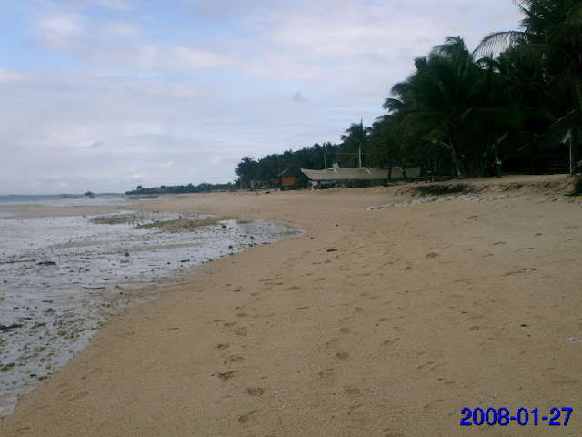 the beach at Budyong Beach Resort