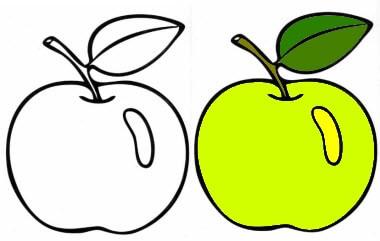 зачарованный мир раскраски для детей с фруктами ягодами и