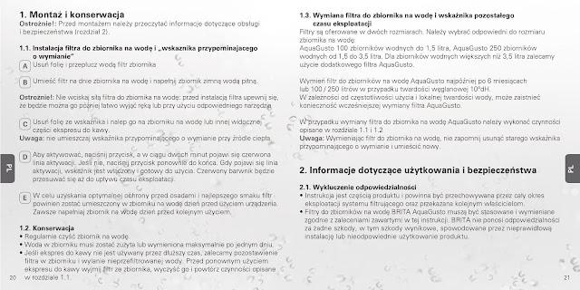 Bedienungsanleitung Handbuch Gebrauchsanleitung Brita AquaGusto