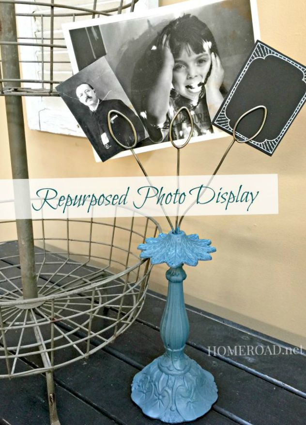 Repurposed Photo Display www.homeroad.net