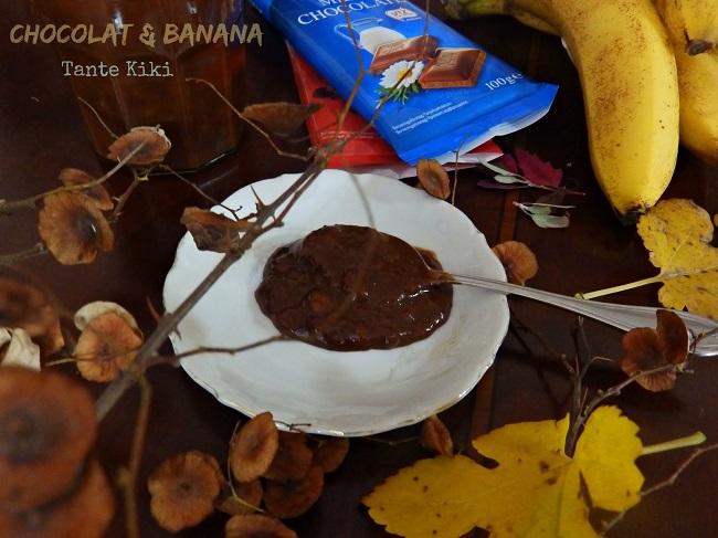 'Αλειμμα με διπλή σοκολάτα & μπανάνα