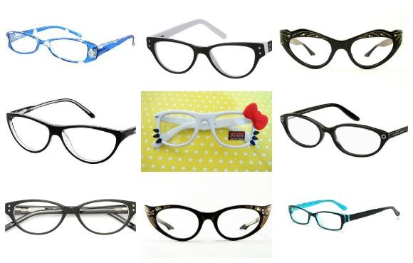 8fef349df9c  Blue Lottie Fashion Reading Glasses   DS Petite Collection   vintage cat  eye glasses