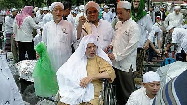 Walau Kurang Sehat, Habib Kwitang Tetap Hadir di Monas