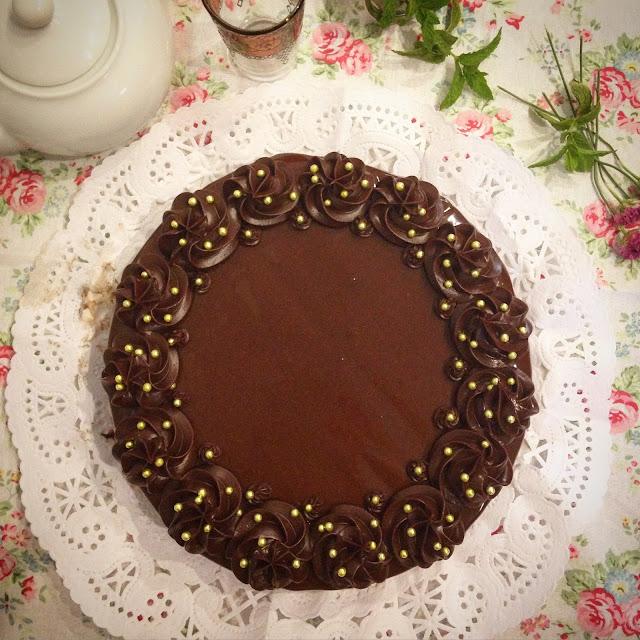 tarta de chocolate y mermelada de naranja
