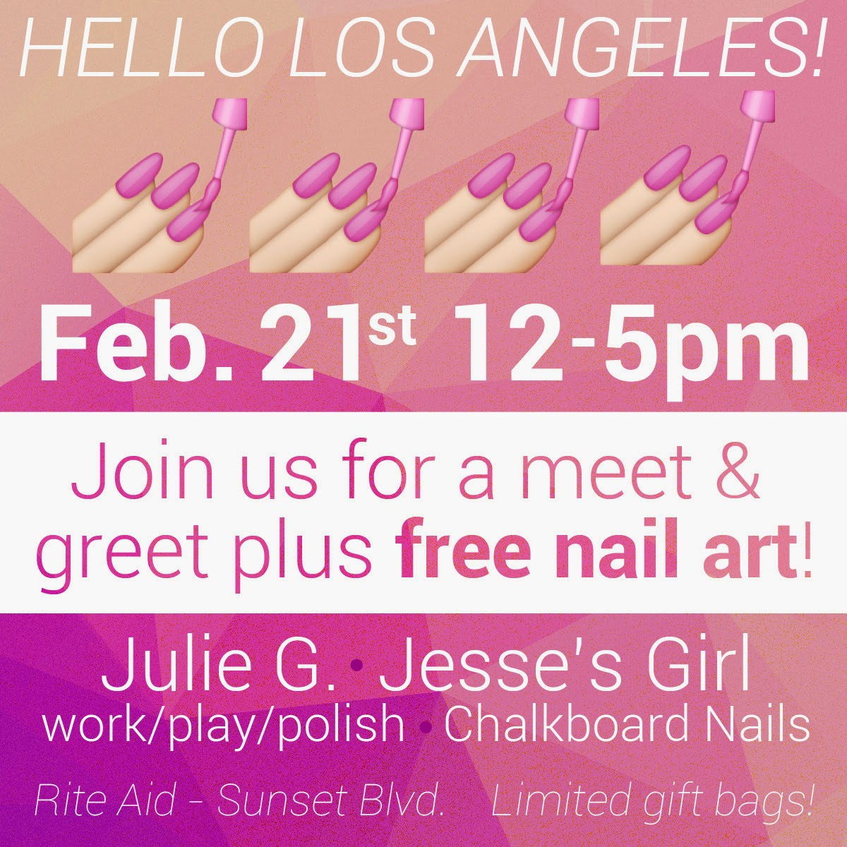 Los Angeles Meet Up - JulieG, Chalkboard Nails, work/play/polish