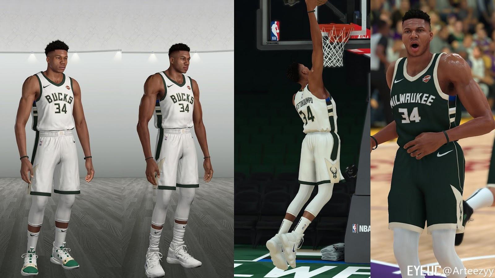NBA 2K19 - Giannis Antetokounmpo Cyberface + Body Update v1