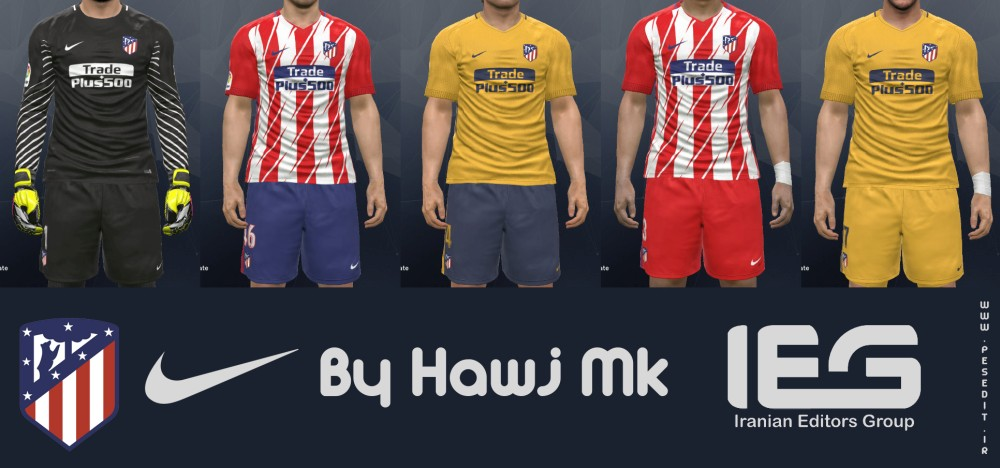 PES 2017 Atletico de Madrid 17/18 Full Kit Pack by hawj_mk