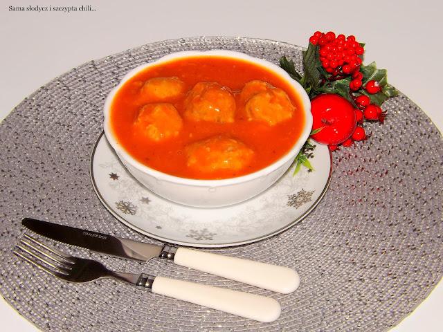 Węgierskie kuleczki w sosie słodko-kwaśnym.