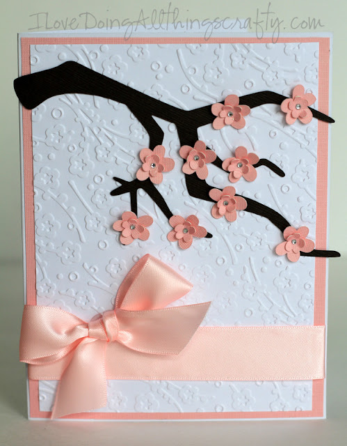 Cherry Blossom Wedding Card | SVGCuts