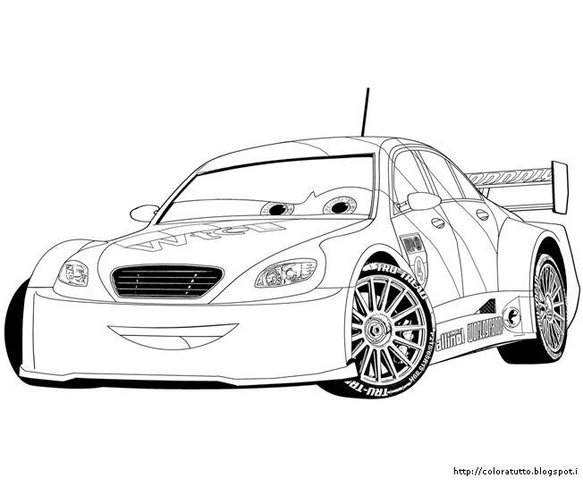 Cars 2 disegno da colorare n.14
