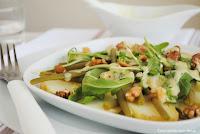Ensalada de judías verdes con rúcula y vinagreta de yogur