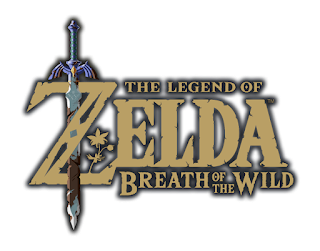 the legend of zelda breath of the wild logo with outline