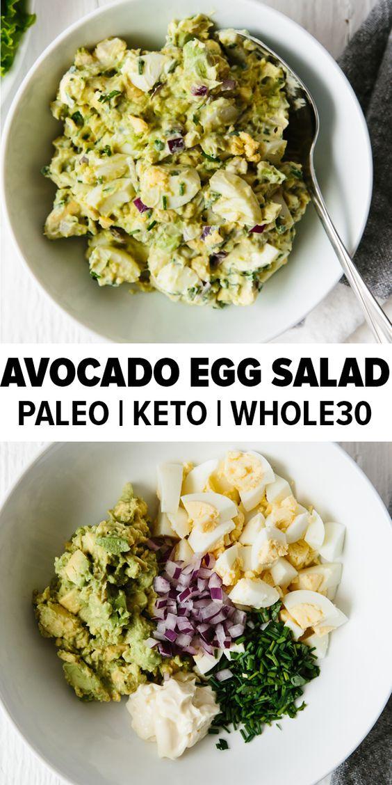 Healthy Keto Avocado Egg Salad