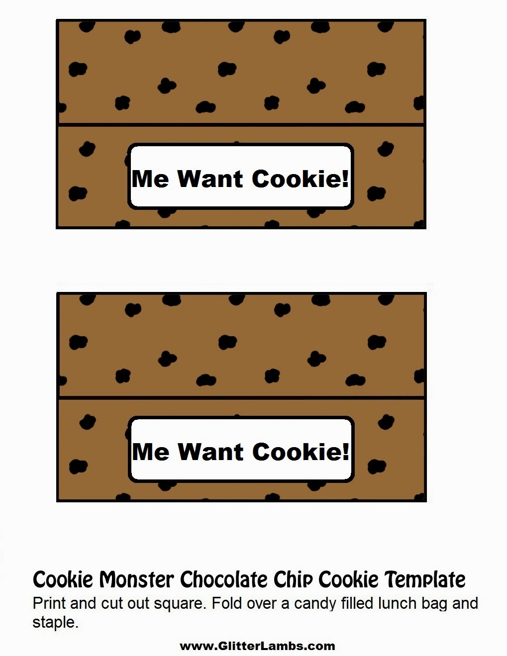 It's just an image of Adorable Cookie Template Printable