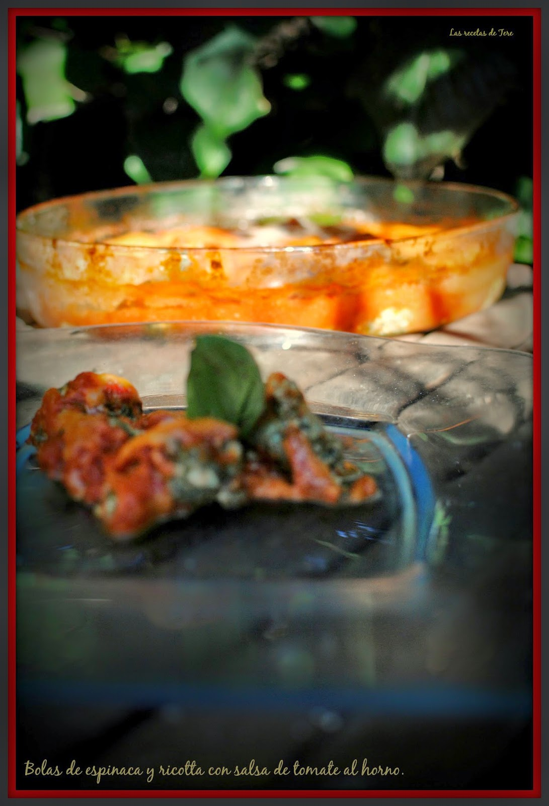 bolas de espinaca y ricotta con salsa de tomate al horno tererecetas 05