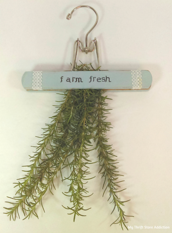 repurposed vintage herb drying hanger