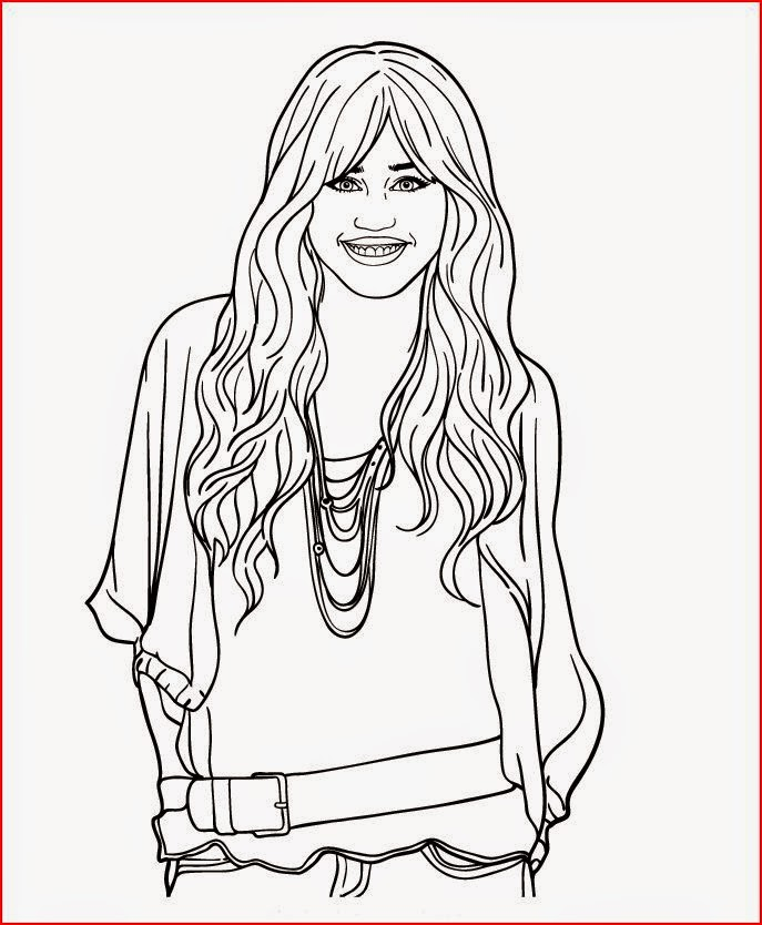 miley cyrus coloring pages printable - photo#9