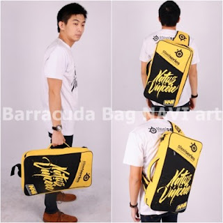 Gaming Bag - Tas Barracuda V5 5in1 - Navi Art Yellow