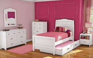 Habitación juvenil rosa