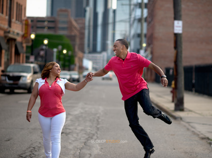 Detroit Engagement photo ideas - Sudeep Studio.com