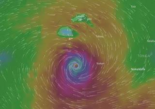 Gita schrammt an Fiji vorbei