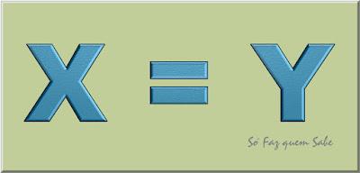 Quadro mostrando que x é igual a y para demonstrar que 2 é igual a 1