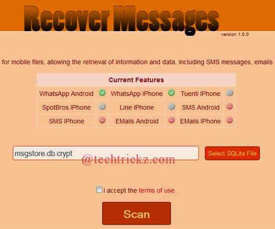 Recuperar mensagens, fotos e vídeos do WhatsApp online 1