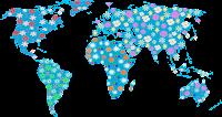Mapa mundi florido - Criação Blog PNG-Free