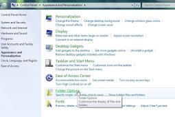 Cara Sembunyikan Folder Dalam Control Panel PC