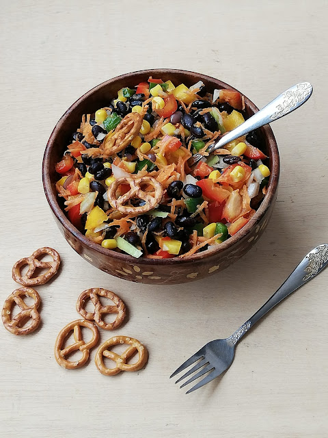 Gluten free Vegan Blackbeans salad