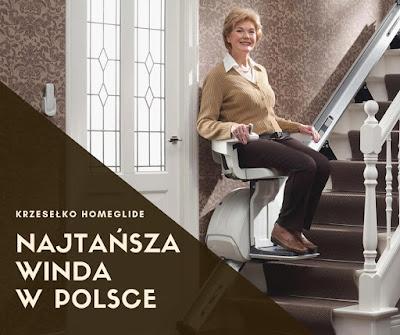 Krzesło schoowe HomeGlide - najtańsza winda w ofercie firmy RAV-NET Rafał Kurzyna