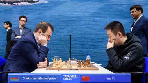 Mamma mia ! Mamedyarov défait le prodige chinois Yi Wei et s'envole au classement du Tata Steel Chess Masters avec 5,5 points sur 7 - Photo © Alina L'Ami