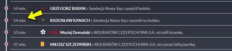 Raport meczowy spotkania Raków Częstochowa - Sandecja 2:0<br><br>fot. laczynaspilka.pl
