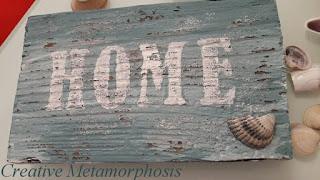 "деревянная табличка ""HOME"""