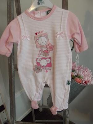 pijama rosa bebe coleccion primavera verano canastilla