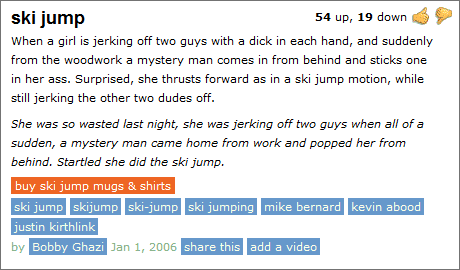 Urban Dictionary & The Sordid World of Skiing   illicit