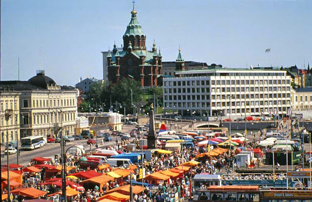 Kauppatori açık pazarı, Helsinki