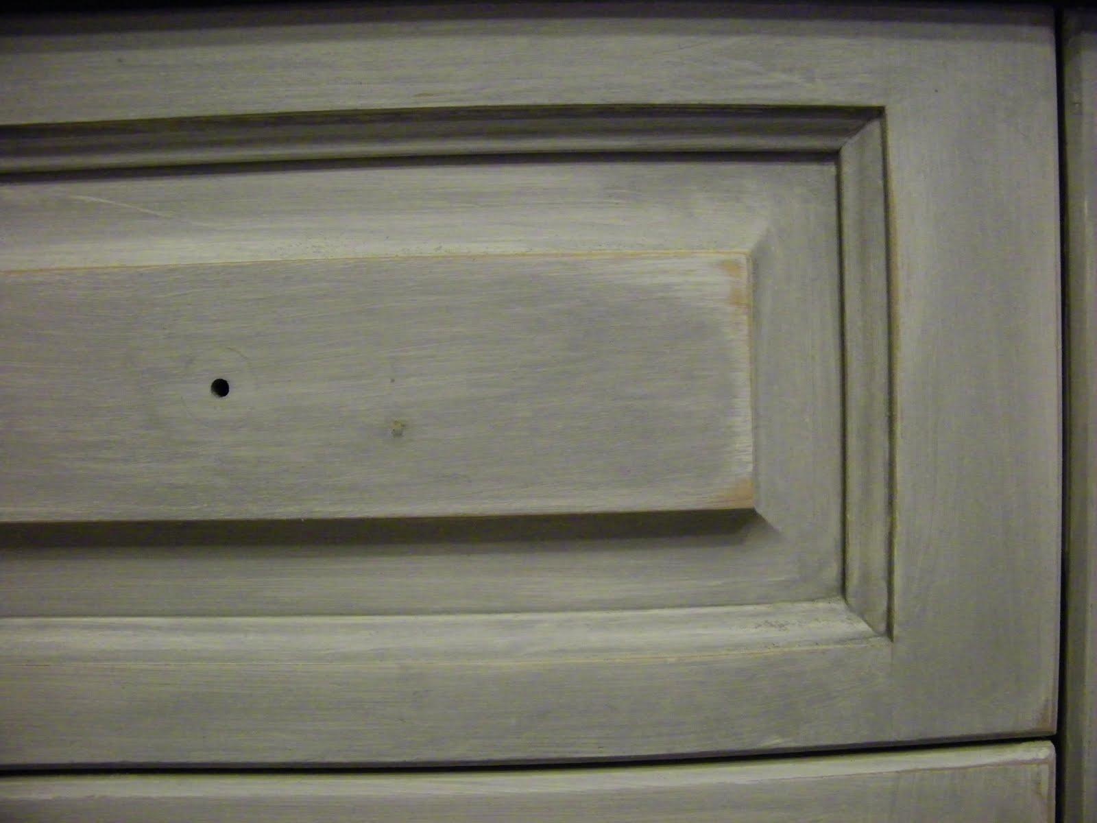 kitchen cabs get grey chalk wash distressed kitchen cabinets Kitchen cabs get a grey chalk wash