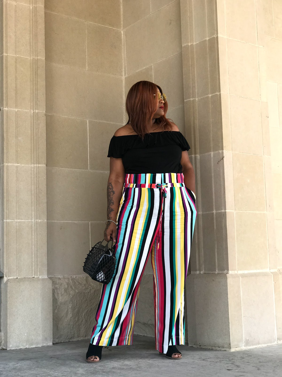 Image: Woman shared several ways how she is not taking wearing stripes seriously.
