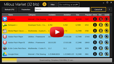 برنامج Milouz Market لتحديث الجهاز