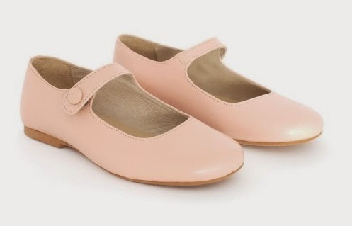 Little Girls Mary Jane Shoes In Pastel Colours