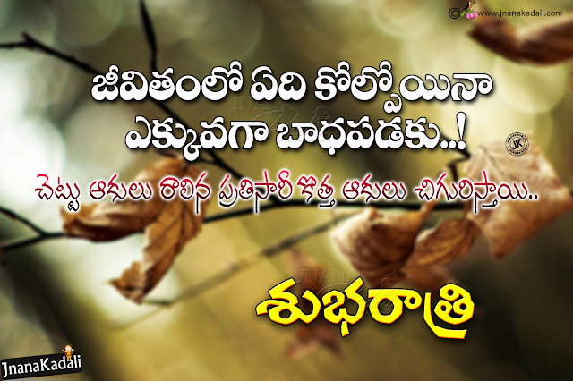 Online Good Night Quotes Messages in Telugu, Telugu Free Inspirational Thoughts, best life inspirational Quotes in Telugu
